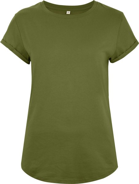 Organic Rolled Sleeve T-Shirt - khaki
