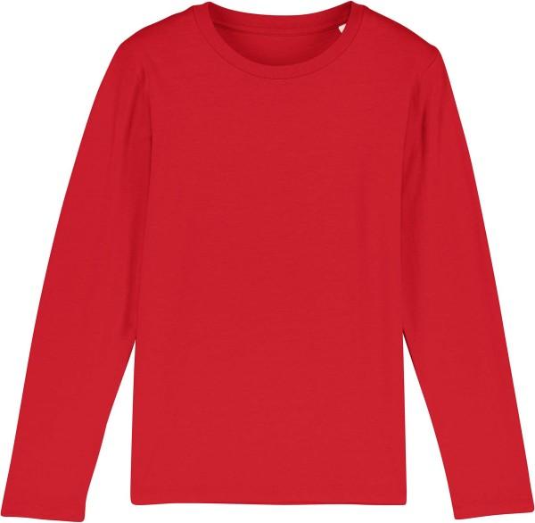 Kinder Longsleeve aus Bio-Baumwolle - red