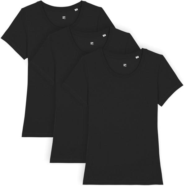 T-Shirt aus Bio-Baumwolle - black - 3er-Pack