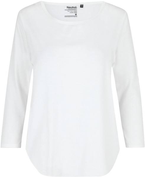 3/4 Sleeve T-Shirt aus Fairtrade Bio-Baumwolle - white