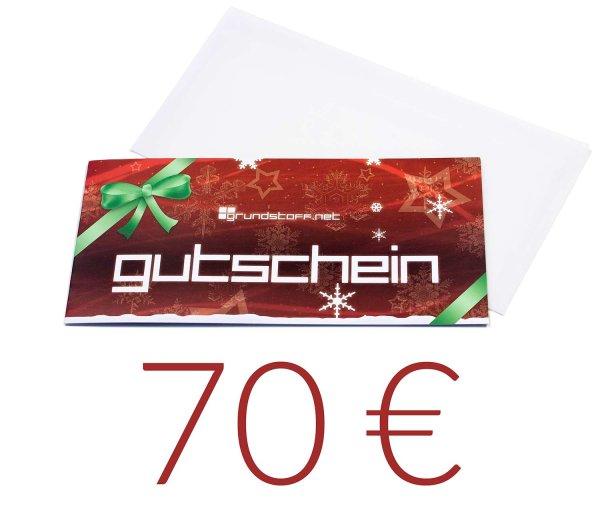 70,- EUR Geschenkgutschein - Weihnachtsdesign - Bild 1