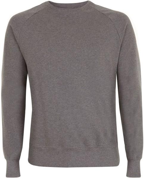Herren Raglan Sweatshirt Bio-Baumwolle dunkelgrau