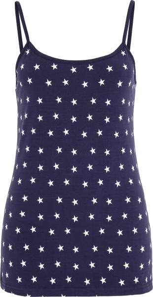 Top aus Biobaumwolle - blau mit Sternen