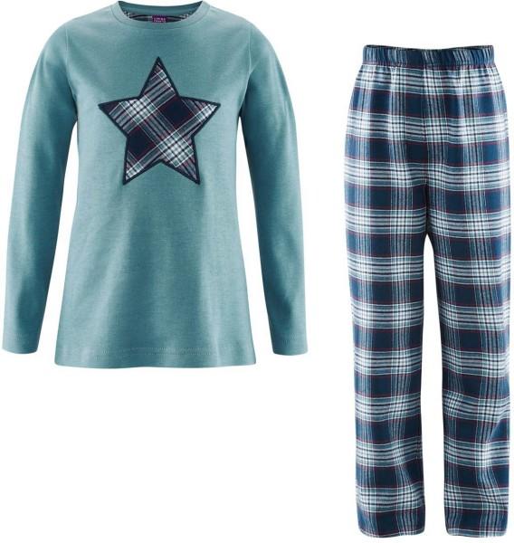 Kinder Schlafanzug aus Bio-Baumwolle - navy/mineral - Bild 1