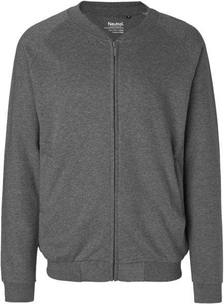 Zip-Jacke aus Fairtrade Bio-Baumwolle - dark heather
