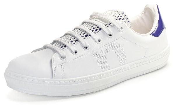 Schuhe mit flacher Sohle - Sneaker weiss DEPORTIVO PIEL REJILLA MARINO