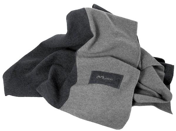 Wolldecke Blanket - Made in Germany - anthrazit / grau - Bild 1