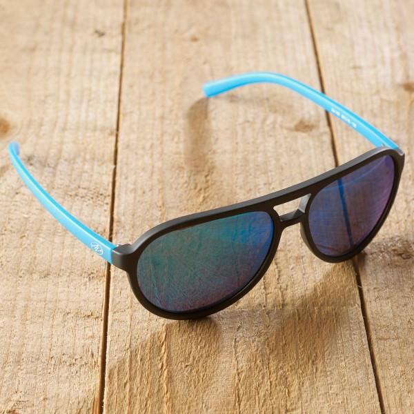 Bologna - Sonnenbrille schwarz-blau - verspiegelt