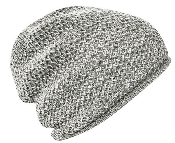 Strickmütze aus Hanf und Bio-Baumwolle - melange grey - Bild 1
