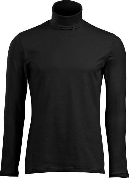 Rollkragen-Langarmshirt - schwarz - Bild 1