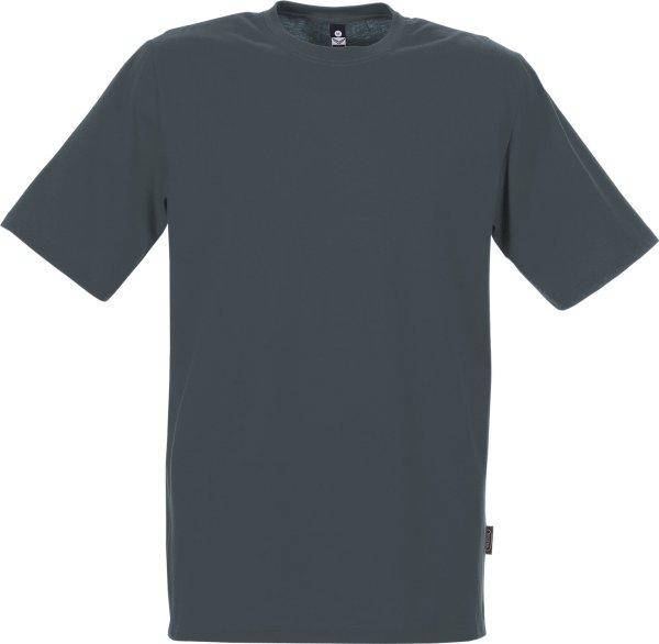 Klassisches T-Shirt aus Baumwolle - anthrazit - Bild 1