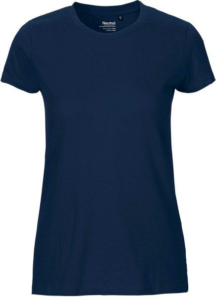 Fitted T-Shirt aus Fairtrade Bio-Baumwolle - navy