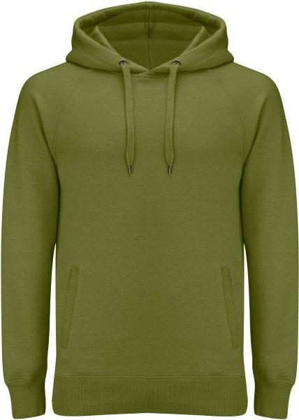 Unisex Pullover Hoodie mit Seitentaschen - khaki green