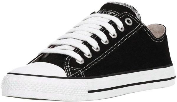 Flacher Sneaker von Ethletic in schwarz