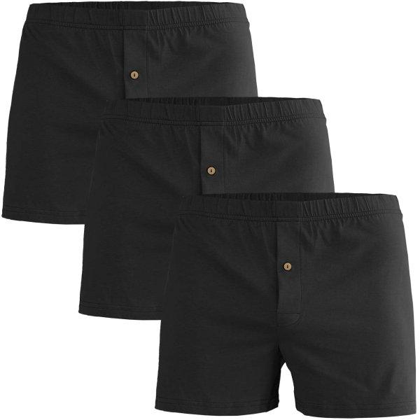 Boxershorts aus Bio-Baumwolle - 3er-Pack - schwarz