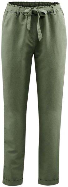 Hose aus Bio-Leinen und Bio-Baumwolle - light khaki