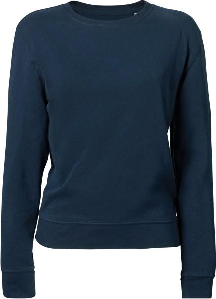 Leichter Sweater aus Biobaumwolle - navy