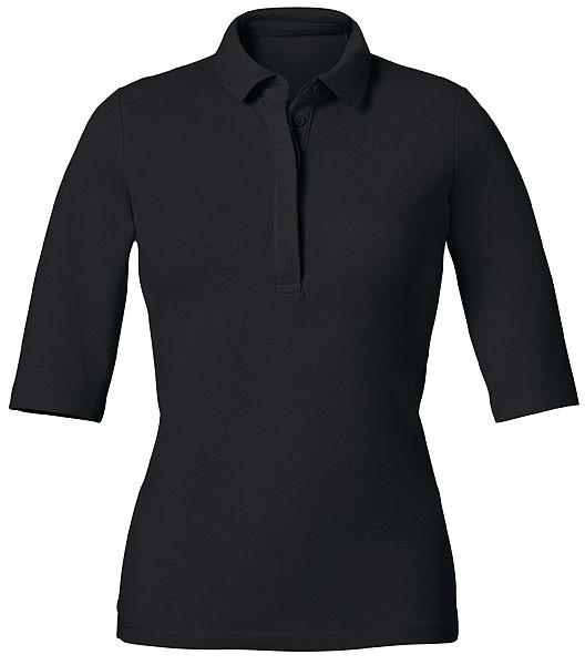 Delights - Halbarm-Poloshirt aus Biobaumwolle - black - Bild 1