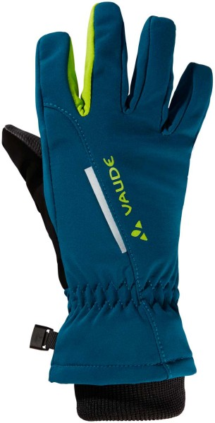 Kinder Handschuhe Softshell Gloves - deep water