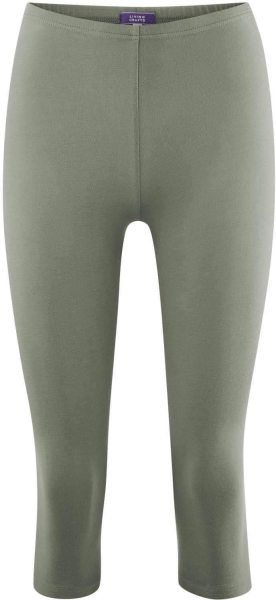 3/4 Leggings aus Bio-Baumwolle - light khaki