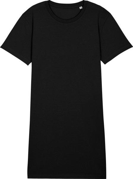 Jersey-Kleid aus Biobaumwolle - black