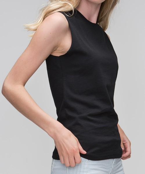 Organic Loose Fit Tank T-Shirt schwarz