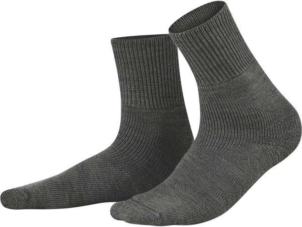 Socken aus Bio-Wolle - anthracite melange