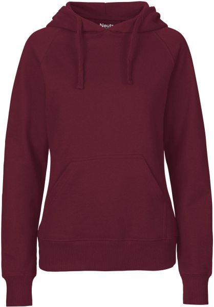 Hooded Sweatshirt aus Fairtrade Bio-Baumwolle - bordeaux