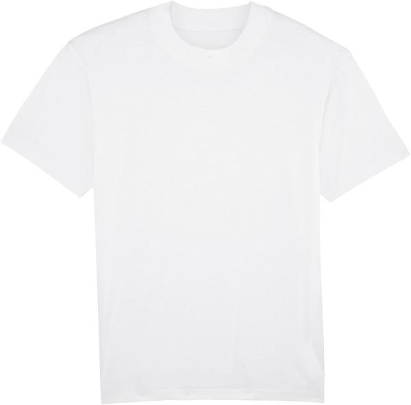 T-Shirt mit hohem Halsabschluss - white
