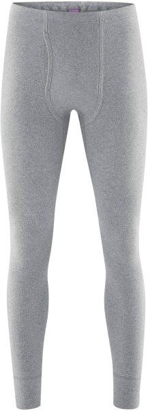Lange Unterhose aus Bio-Baumwolle - grey melange