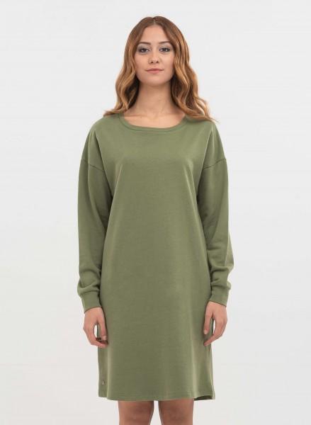 Sweatshirt-Kleid aus Bio-Baumwolle - green