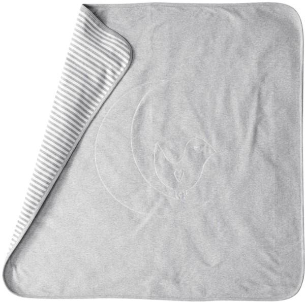 Baby Decke aus Bio-Baumwolle – grey melange/offwhite