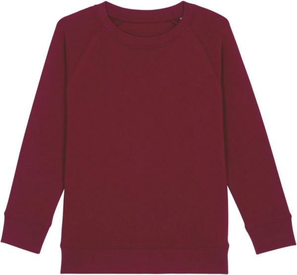 Kinder Sweatshirt aus Bio-Baumwolle - burgundy
