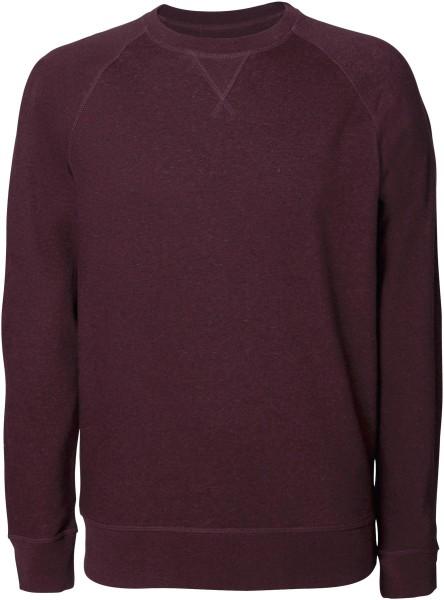 Sweatshirt fair & Bio - heather grape red