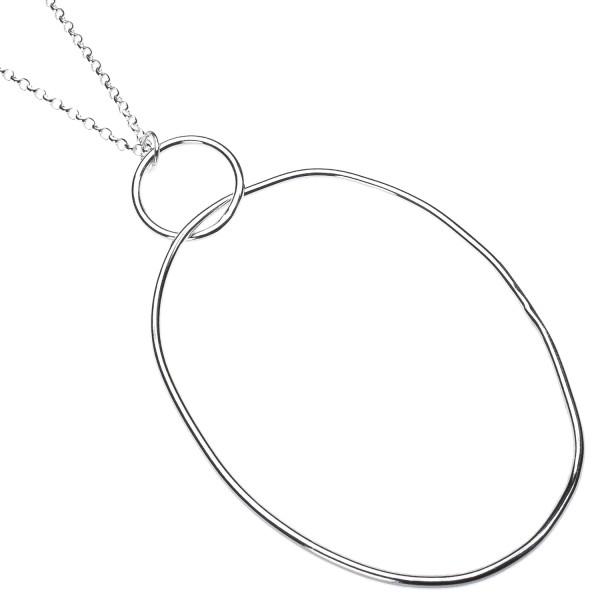 Oval Drop Necklace - Kette aus recyceltem Silber