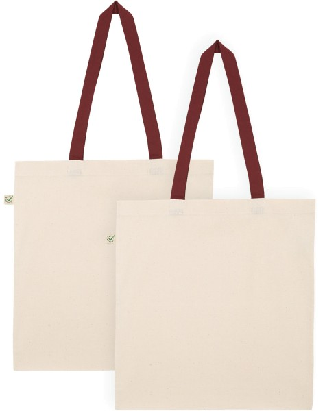 Doppelpack - Organic Cotton Bag - natur-burgundy
