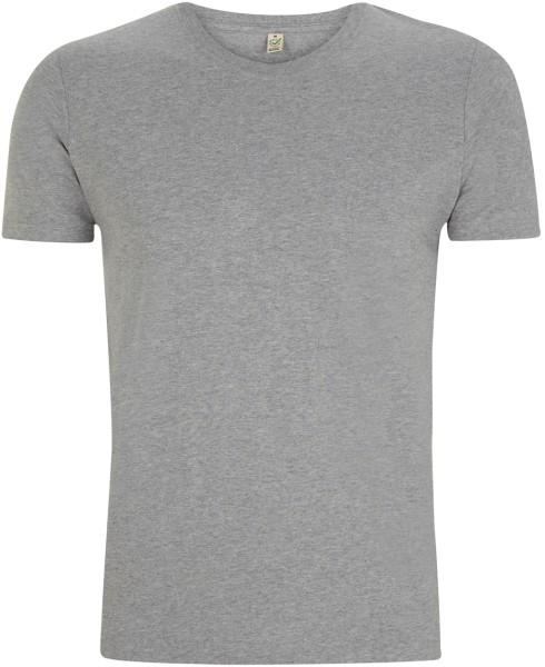 Organic Slim-Fit T-Shirt grau meliert