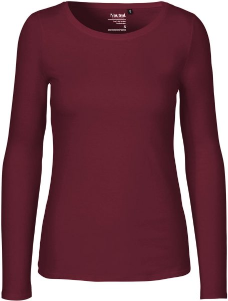 Neutral - Damen Longsleeve - bordeaux