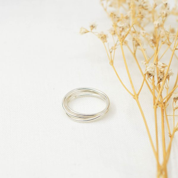 Wrapped Ring aus recyceltem Silber