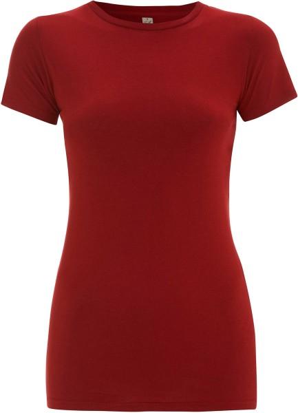 Organic Slim-Fit T-Shirt deep red - Bild 1