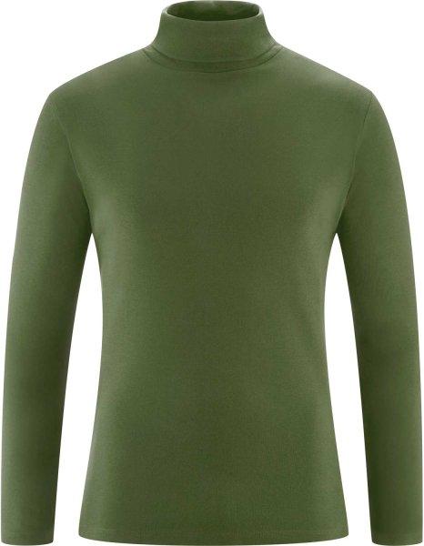 Rollkragen-Langarmshirt aus Bio-Baumwolle - cypress