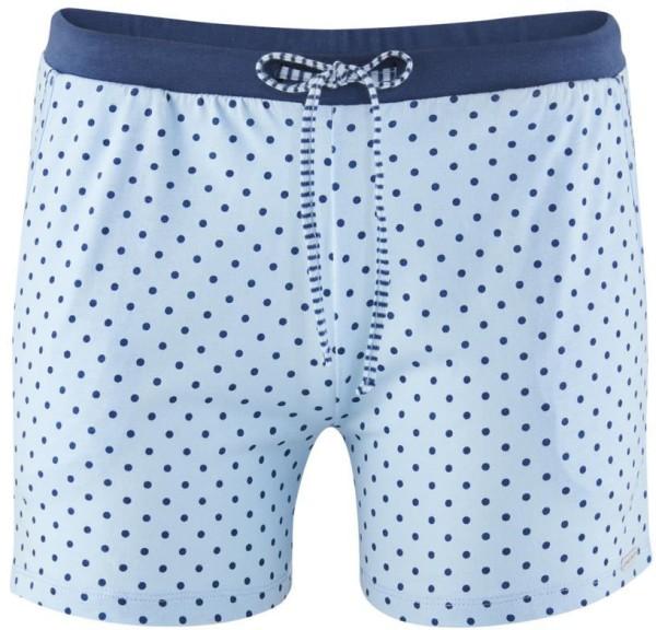 Schlaf-Shorts aus Bio-Baumwolle - bleu/dots