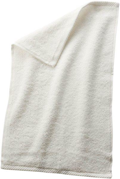 Gäste-Handtuch aus Bio-Baumwolle 30x50 cm natur