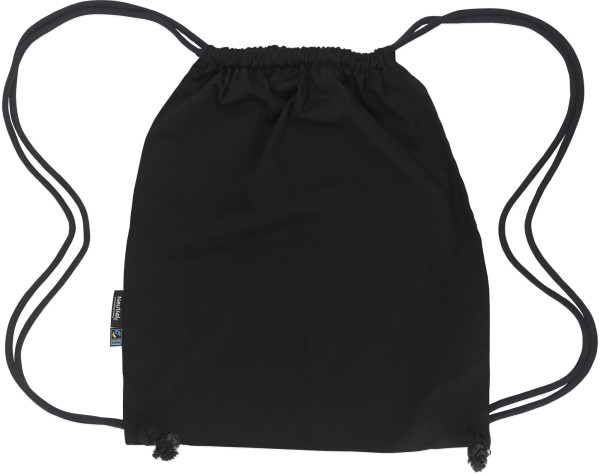 Gym Bag aus Fairtrade Bio-Baumwolle - black