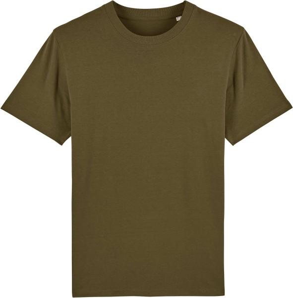 T-Shirt aus schwerem Stoff aus Bio-Baumwolle - british khaki