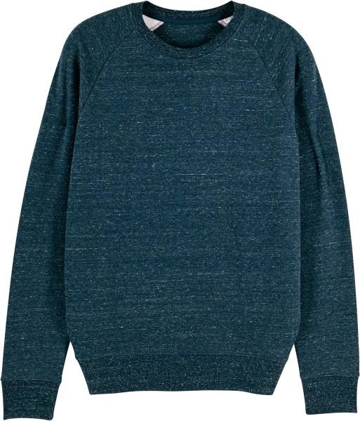 Sweatshirt aus Bio-Baumwolle - dark heather denim