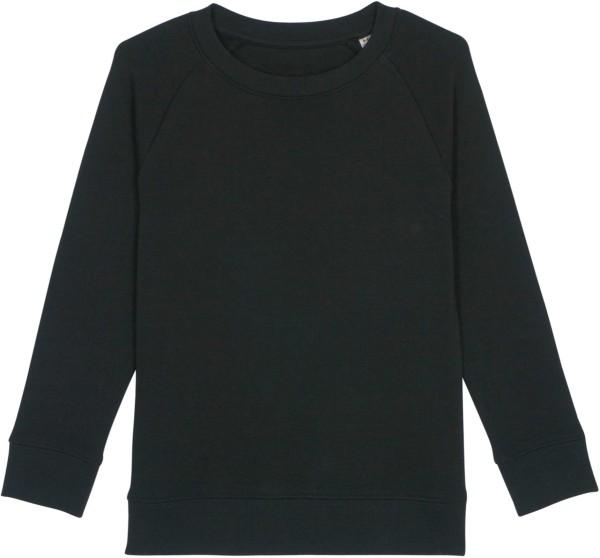 Kinder Sweatshirt aus Bio-Baumwolle - black