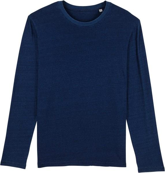 Longsleeve aus Bio-Baumwolle - dark washed indigo