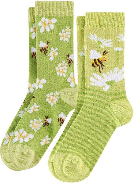 Kinder Socken aus Bio-Baumwolle - 2er-Pack - bee