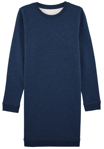 Sweatshirtkleid aus Bio-Baumwolle - black heather blue